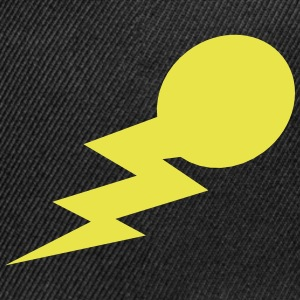 lightning bolt comet with a tail Caps - Snap-back Baseball Cap