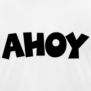 Ahoy T-Shirt (White/Black) Men - Men's T-Shirt by American Apparel