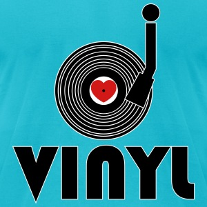 I Luv Vinyl T-Shirts - Men's T-Shirt by American Apparel