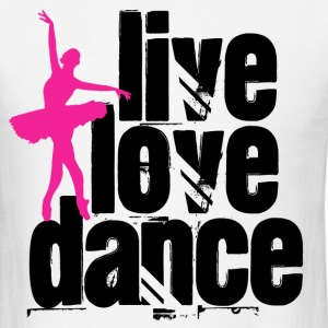 Live, Love, Dance Ballerina - Men's T-Shirt