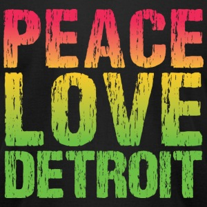 PEACE LOVE DETROIT T-Shirts - Men's T-Shirt by American Apparel
