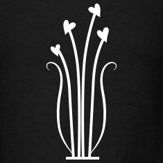 hearts flowers vines cute decoration T-Shirts