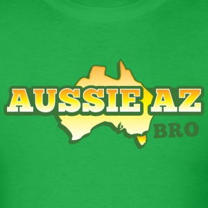 AUSSIE AZ BRO with Australian map T-Shirts - Men's T-Shirt
