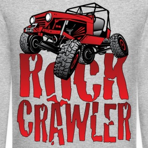 Red Jeep Rock Crawler Light Long Sleeve Shirts - Crewneck Sweatshirt