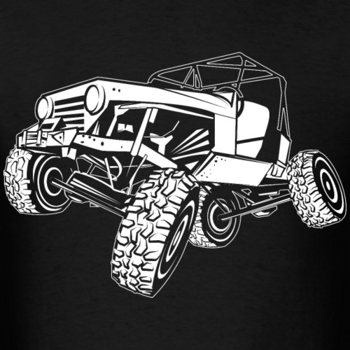 Off-Road Monster Jeep White Outline