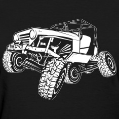 Off-Road White Monster Jeep Women's T-Shirts