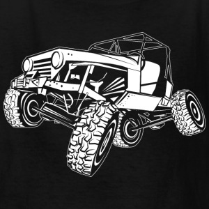 Off-Road White Monster Jeep Kids' Shirts - Kids' T-Shirt