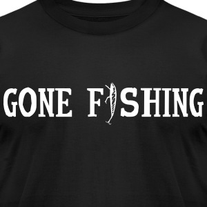 Gone Fishing - Men's T-Shirt by American Apparel