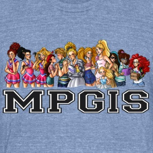 Most Popular Girls MPGIS T-Shirts - Unisex Tri-Blend T-Shirt by American Apparel
