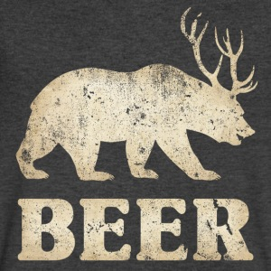 Vintage Bear+Deer=Beer - Men's V-Neck T-Shirt by Canvas