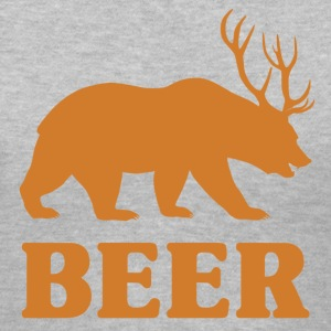 Bear+Deer=Beer - Women's V-Neck T-Shirt