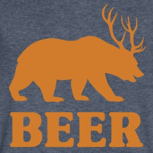 Bear+Deer=Beer - Men's V-Neck T-Shirt by Canvas
