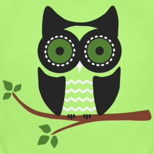 Owl - Short Sleeve Baby Bodysuit