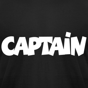 Captain T-Shirt (Black) Men - Men's T-Shirt by American Apparel