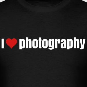 i love photography  T-Shirts - Men's T-Shirt