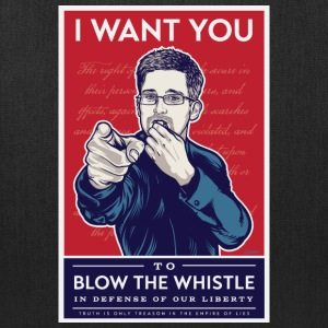 Edward Snowden - I want you to blow the whistle Bags & backpacks - Tote Bag