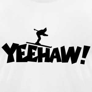 Yeehaw Skiing T-Shirt - Men's T-Shirt by American Apparel