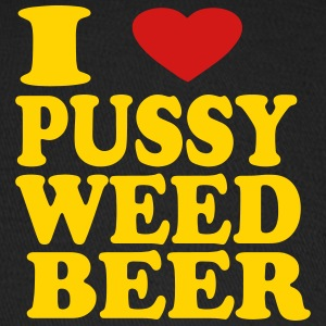 I LOVE PUSSY WEED BEER Caps - Baseball Cap