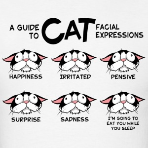Cat facial expressions Men's T-Shirt - Men's T-Shirt