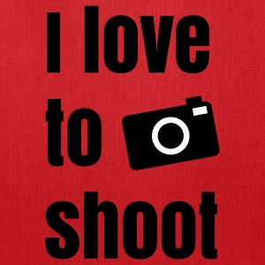 i love to shoot photos Bags & backpacks - Tote Bag