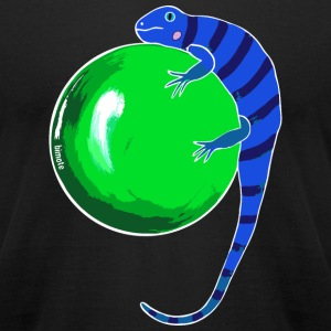 Iguana with white border T-Shirts - Men's T-Shirt by American Apparel