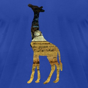 Giraffe in the steppe T-Shirts - Men's T-Shirt by American Apparel