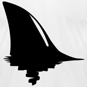 shark fin T-Shirts - Men's T-Shirt by American Apparel