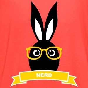 Nerd hipster rabbit hare bunny cony glasses specs Tanks - Women's Flowy Tank Top by Bella