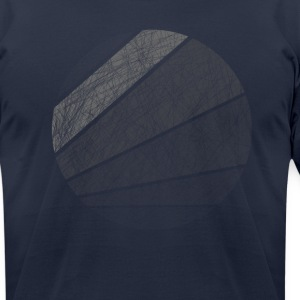Distressed Circle T-Shirts - Men's T-Shirt by American Apparel