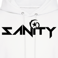 Design ~ SANiTY Logo Hoodie - Black on White