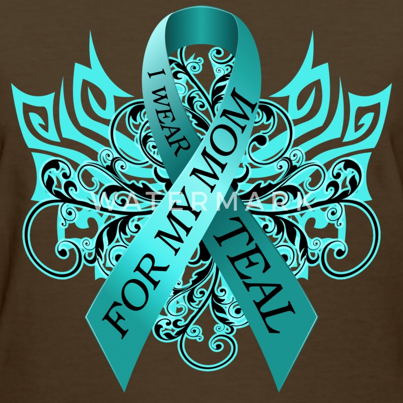 I Wear Teal for My Mom Women's T-Shirts - Women's T-Shirt