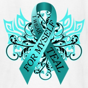 I Wear Teal for Myself Kids' Shirts - Kids' T-Shirt