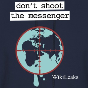 Wikileaks Don't Shoot The Messenger  Hoodies - Men's Hoodie