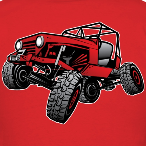 Red Off-Road Jeep Rock Crawler