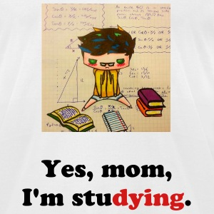 Studying T-Shirts - Men's T-Shirt by American Apparel