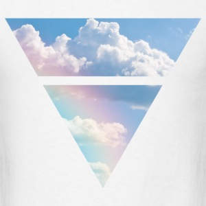 Triangle Clouds - Men's T-Shirt