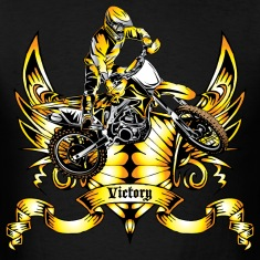 Off-Road Dirt Bike Victory Gold T-Shirts