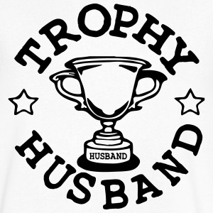 TROPHY HUSBAND T-Shirts - Men's V-Neck T-Shirt by Canvas