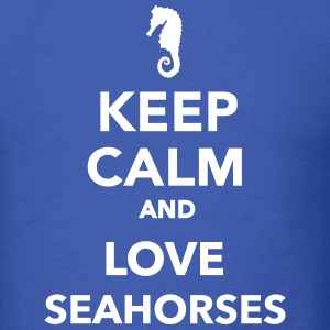 Keep calm and love seahorses T-Shirts - Men's T-Shirt