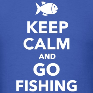 Keep calm and go fishing T-Shirts - Men's T-Shirt