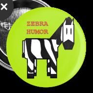 Design ~ Green Zebra Humor Button
