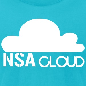 NSA in the Cloud T-Shirts - Men's T-Shirt by American Apparel