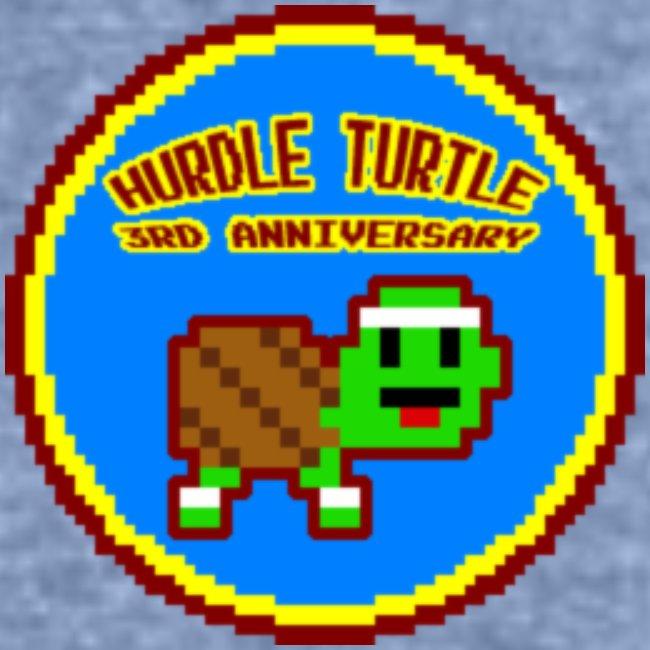 Hurdle Turtle Birthday Badge Tee