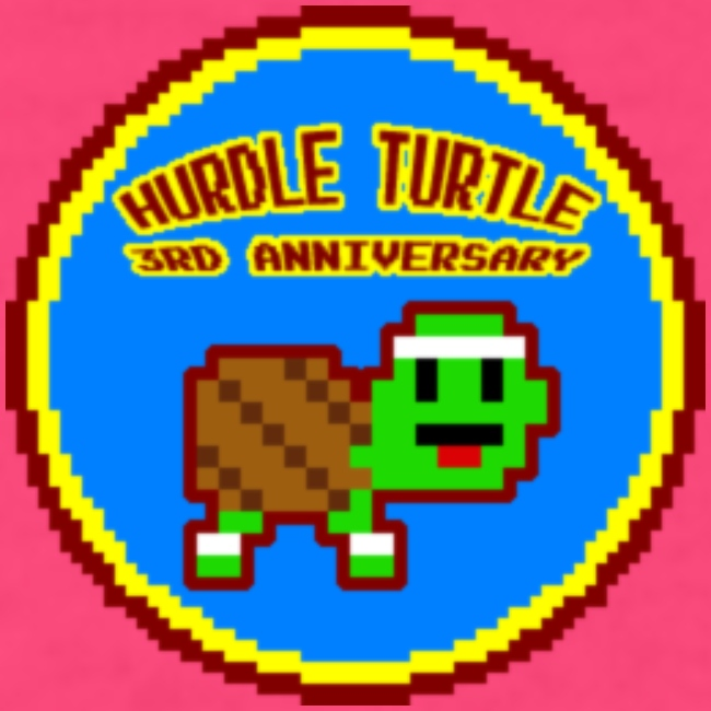 Women's Hurdle Turtle B-day Badge Tee