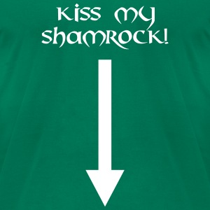 kiss my shamrock st. patrick´s day T-Shirts - Men's T-Shirt by American Apparel