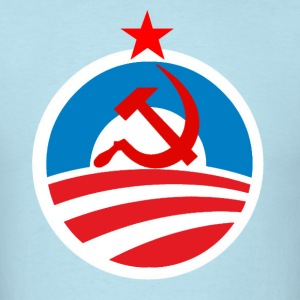 Men's Blue Nobama Hammer & Sickle Shirt - Men's T-Shirt