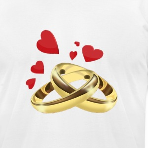 Rings T-Shirts - Men's T-Shirt by American Apparel