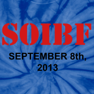 Design ~ Official SOIBF 2013 Classic-cut tie dye t-shirt for both men and women