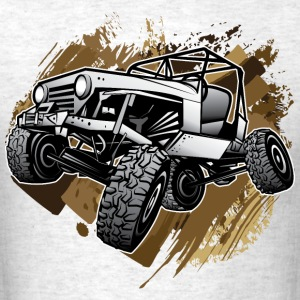 Off-Road Mudding White Jeep T-Shirts - Men's T-Shirt
