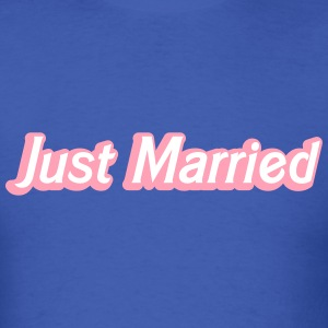 Just Married! cute recently married couples shirt T-Shirts - Men's T-Shirt